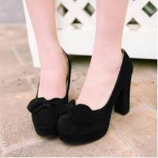 รองเท้าส้นสูง แฟชั่นเกาหลีใส่ติดต่อราชการ นำเข้าไซส์34ถึง39 สีดำ - พรีออเดอร์RB2045 ราคา1250บาท