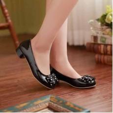 รองเท้าส้นเตี้ย แฟชั่นเกาหลีผู้หญิงสวมสบาย นำเข้า ไซส์34ถึง43 สีดำ - พรีออเดอร์RB2046 ราคา1370บาท