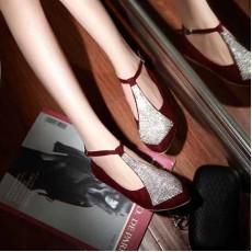 รองเท้าส้นเตี้ย แฟชั่นเกาหลีหนังกลับวินเทจ นำเข้า ไซส์34ถึง39 สีแดง - พรีออเดอร์RB2047 ราคา1370บาท
