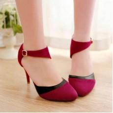 รองเท้าส้นสูง แฟชั่นเกาหลีหรูแบบผู้หญิงมีคลาส นำเข้าไซส์34ถึง43 สีแดง - พรีออเดอร์RB2056 ราคา1650บาท