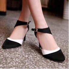 รองเท้าส้นสูง แฟชั่นเกาหลีหรูแบบผู้หญิงมีคลาส นำเข้าไซส์34ถึง43 สีดำ - พรีออเดอร์RB2056 ราคา1650บาท