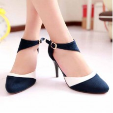รองเท้าส้นสูง แฟชั่นเกาหลีหรูแบบผู้หญิงมีคลาส นำเข้าไซส์34ถึง43 สีน้ำเงิน - พรีออเดอร์RB2056 ราคา1370บาท