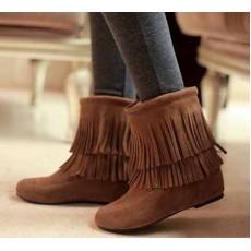 รองเท้าบูท แฟชั่นเกาหลีส้นเตี้ยกันหนาวได้ นำเข้า ไซส์34ถึง43 สีน้ำตาล - พรีออเดอร์RB2057 ราคา1900บาท