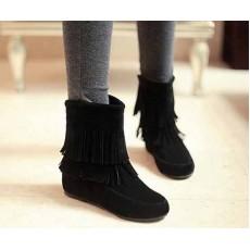 รองเท้าบูท แฟชั่นเกาหลีส้นเตี้ยกันหนาวได้ นำเข้า ไซส์34ถึง43 สีดำ - พรีออเดอร์RB2057 ราคา1900บาท