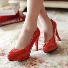 รองเท้าส้นสูง แฟชั่นเกาหลีผู้หญิงทำงานเรียบๆ นำเข้าไซส์34ถึง39 สีแดง - พรีออเดอร์RB2061 ราคา1350บาท
