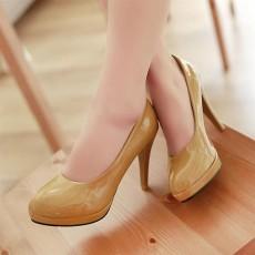 รองเท้าส้นสูง แฟชั่นเกาหลีผู้หญิงทำงานเรียบๆ นำเข้าไซส์34ถึง39 สีเหลือง - พรีออเดอร์RB2061 ราคา1350บาท