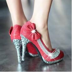 รองเท้าส้นสูง แฟชั่นเกาหลีไปออกงานแต่งงาน นำเข้าไซส์34ถึง39 สีแดง - พรีออเดอร์RB2066 ราคา1500บาท