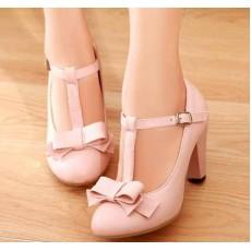 รองเท้าส้นสูง แฟชั่นเกาหลีสวยสง่าประทับใจ นำเข้าไซส์34ถึง43 สีชมพู - พรีออเดอร์RB2076 ราคา1750บาท
