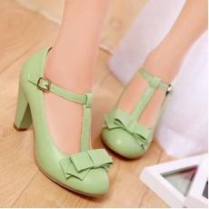 รองเท้าส้นสูง แฟชั่นเกาหลีสวยสง่าประทับใจ นำเข้าไซส์34ถึง43 สีเขียว - พรีออเดอร์RB2076 ราคา1750บาท
