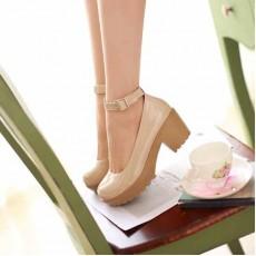 รองเท้าส้นสูง แฟชั่นเกาหลีสวยมั่นใจตามรูป นำเข้าไซส์34ถึง43 สีครีม - พรีออเดอร์RB2088 ราคา1700บาท