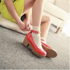 รองเท้าส้นสูง แฟชั่นเกาหลีสวยมั่นใจตามรูป นำเข้าไซส์34ถึง43 สีแดง - พรีออเดอร์RB2088 ราคา1700บาท