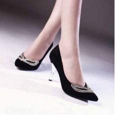 รองเท้าส้นสูง แฟชั่นเกาหลีสวยหรูออกงานแต่งงาน นำเข้าไซส์34ถึง39 สีดำ - พรีออเดอร์RB2091 ราคา1730บาท