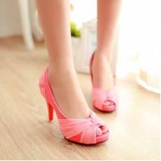 รองเท้าส้นสูง แฟชั่นเกาหลีสวยหรูออกงานแต่งงาน นำเข้าไซส์34ถึง43 สีชมพู - พรีออเดอร์RB2096 ราคา1890บาท