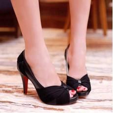 รองเท้าส้นสูง แฟชั่นเกาหลีสวยหรูออกงานแต่งงาน นำเข้าไซส์34ถึง43 สีดำ - พรีออเดอร์RB2096 ราคา1890บาท