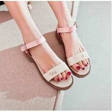 รองเท้าส้นเตี้ย แฟชั่นเกาหลีรองเท้าแตะรุ่นใหม่ นำเข้า ไซส์34ถึง39 สีชมพู - พรีออเดอร์RB2107 ราคา995บาท