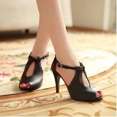 รองเท้าส้นสูง ใส่ทำงานสายถักเปียสวยแฟชั่นเกาหลี นำเข้าไซส์34ถึง39 สีดำ - พรีออเดอร์RB2160 ราคา1450บาท