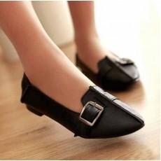 รองเท้าคัทชู ส้นเตี้ยหนังสวมใส่สบายแฟชั่นเกาหลีใหม่ นำเข้าไซส์34ถึง43 สีดำ - พรีออเดอร์RB2161 ราคา1550บาท