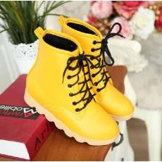 รองเท้าบูทมาร์ติน หุ้มข้อสุดเท่พื้นหนาแฟชั่นเกาหลี นำเข้า ไซส์34ถึง40 สีเหลือง - พรีออเดอร์RB2165 ราคา1600บาท