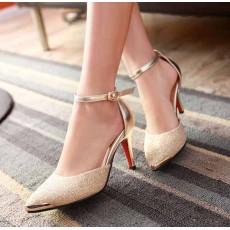 รองเท้าออกงานราตรี ไปงานแต่งแฟชั่นเกาหลี นำเข้าไซส์34ถึง39 สีทอง - พรีออเดอร์RB2174 ราคา1590บาท