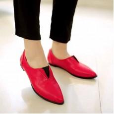 รองเท้าส้นเตี้ย ใส่สบายดีไซน์แบรนด์แฟชั่นเกาหลี นำเข้าไซส์34ถึง39 สีแดง - พรีออเดอร์RB2180 ราคา1750บาท