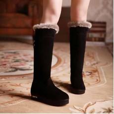 รองเท้าบูท หนังกลับแฟชั่นเกาหลีขนเฟอร์ นำเข้า ไซส์34ถึง39 สีดำ - พรีออเดอร์RB2198 ราคา1490บาท