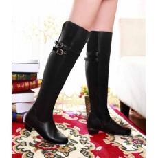 รองเท้าบูทยาว แฟชั่นเกาหลีสวยหรูมีไซส์ใหญ่ นำเข้า ไซส์33ถึง47 สีดำ - พรีออเดอร์RB2199 ราคา1750บาท