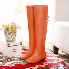 รองเท้าบูทยาว แฟชั่นเกาหลีสวยหรูมีไซส์ใหญ่ นำเข้า ไซส์33ถึง47 สีส้ม - พรีออเดอร์RB2199 ราคา1750บาท