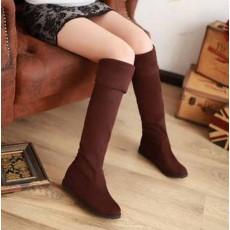 รองเท้าบูทยาว แฟชั่นเกาหลีพับได้ใส่สบาย นำเข้า ไซส์34ถึง39 สีน้ำตาล - พรีออเดอร์RB2201 ราคา1950บาท