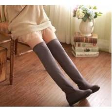 รองเท้าบูทยาว แฟชั่นเกาหลีพับได้ใส่สบาย นำเข้า ไซส์34ถึง39 สีเทา - พรีออเดอร์RB2201 ราคา1950บาท