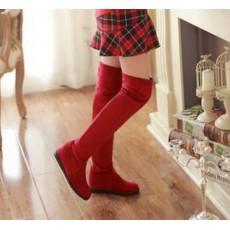 รองเท้าบูทยาว แฟชั่นเกาหลีพับได้ใส่สบาย นำเข้า ไซส์34ถึง39 สีแดง - พรีออเดอร์RB2201 ราคา1950บาท