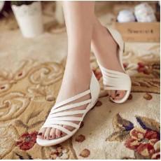 รองเท้าสวย ส้นเตี้ยเปิดเท้ารุ่นใหม่แฟชั่นเกาหลี นำเข้าไซส์33ถึง43 สีขาว - พรีออเดอร์RB2205 ราคา1800บาท