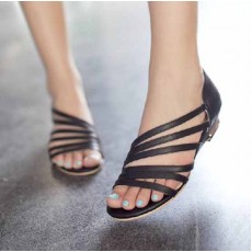 รองเท้าสวย ส้นเตี้ยเปิดเท้ารุ่นใหม่แฟชั่นเกาหลี นำเข้าไซส์33ถึง43 สีดำ - พรีออเดอร์RB2205 ราคา1800บาท