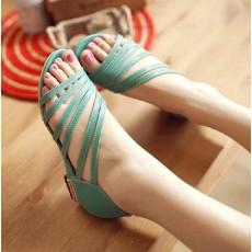 รองเท้าสวย ส้นเตี้ยเปิดเท้ารุ่นใหม่แฟชั่นเกาหลี นำเข้าไซส์33ถึง43 สีเขียว - พรีออเดอร์RB2205 ราคา1800บาท
