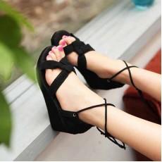 รองเท้าส้นตึก ลูกไม้สวยหวานแฟชั่นเกาหลี นำเข้าไซส์34ถึง40 สีดำ - พรีออเดอร์RB2206 ราคา1550บาท