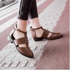 รองเท้าส้นเตี้ย สวมสุขภาพเท้าแฟชั่นเกาหลี นำเข้าไซส์32ถึง43 สีน้ำตาล - พรีออเดอร์RB2220 ราคา2100บาท