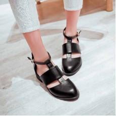 รองเท้าส้นเตี้ย สวมสุขภาพเท้าแฟชั่นเกาหลี นำเข้าไซส์32ถึง43 สีดำ - พรีออเดอร์RB2220 ราคา2100บาท