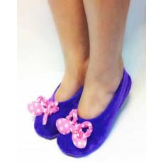 รองเท้าใส่ในบ้าน หุ้มส้นสวมใส่ทำงานและเล่นโยคะเพื่อสุขภาพเท้า นำเข้า ฟรีไซส์ สีม่วง - พร้อมส่งRB2230 ราคา359บาท