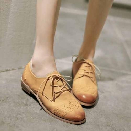 รองเท้าOXFORDผู้หญิง สวมแนวโลฟเฟอร์แฟชั่นเกาหลี นำเข้าไซส์35ถึง39 สีน้ำตาล - พรีออเดอร์RB2231 ราคา1790บาท