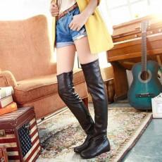 รองเท้าบูทยาว ปิดหัวเข่าส้นเตี้ยแฟชั่นเกาหลีสวยใหม่มีไซส์ใหญ่ นำเข้า ไซส์34ถึง43 สีน้ำตาล - พรีออเดอร์RB2234 ราคา1950บาท