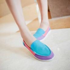 รองเท้าผ้าใบ คัทชูใส่สบายแฟชั่นเกาหลีผู้หญิงแนวเท่รุ่นใหม่ นำเข้า ไซส์35ถึง39 สีฟ้า - พรีออเดอร์RB2235 ราคา1450บาท