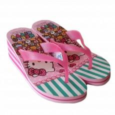 รองเท้าแตะส้นเตารีด แบบหนีบสวย Hello Kitty Sanrio ลิขสิทธิ์ของแท้ ไซส์36-38 สีชมพู - พร้อมส่งRB2241 ราคา590บาท