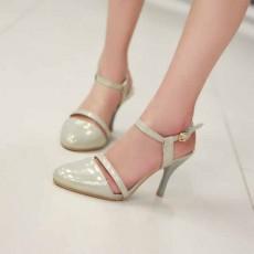รองเท้าส้นสูง หัวแหลมใส่ทำงานสวยใหม่แฟชั่นเกาหลี นำเข้า ไซส์34ถึง39 สีเบจ - พรีออเดอร์RB2261 ราคา1550บาท