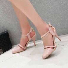 รองเท้าส้นสูง หัวแหลมใส่ทำงานสวยใหม่แฟชั่นเกาหลี นำเข้า ไซส์34ถึง39 สีชมพู - พรีออเดอร์RB2261 ราคา1550บาท