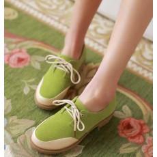 รองเท้าOXFORDผู้หญิง สวมแนวโลฟเฟอร์ผ้าใบแฟชั่นเกาหลี นำเข้าไซส์34ถึง43 สีเขียว - พรีออเดอร์RB2272 ราคา1650บาท