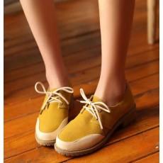 รองเท้าOXFORDผู้หญิง สวมแนวโลฟเฟอร์ผ้าใบแฟชั่นเกาหลี นำเข้าไซส์34ถึง43 สีเหลือง - พรีออเดอร์RB2272 ราคา1650บาท