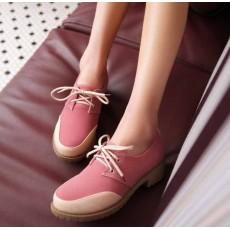 รองเท้าOXFORDผู้หญิง สวมแนวโลฟเฟอร์ผ้าใบแฟชั่นเกาหลี นำเข้าไซส์34ถึง43 สีชมพู - พรีออเดอร์RB2272 ราคา1650บาท