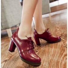 รองเท้าส้นสูง วินเทจผู้หญิงแฟชั่นเกาหลีสไตล์ใหม่เหมาะกับเทรนด์ นำเข้า ไซส์34ถึง43 สีแดง - พรีออเดอร์RB2273 ราคา1800บาท