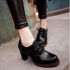 รองเท้าส้นสูง วินเทจผู้หญิงแฟชั่นเกาหลีสไตล์ใหม่เหมาะกับเทรนด์ นำเข้า ไซส์34ถึง43 สีดำ - พรีออเดอร์RB2273 ราคา1800บาท