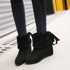 รองเท้าบูทกันหนาว แฟชั่นเกาหลีบุขนนุ่มสวยใส่ได้2แบบ นำเข้า ไซส์34ถึง43 สีดำ - พรีออเดอร์RB2276 ราคา1750บาท