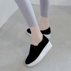 รองเท้าผ้าใบส้นหนา แฟชั่นเกาหลีโลฟเฟอร์ผู้หญิงหนังกลับ นำเข้า ไซส์34ถึง39 สีดำ - พรีออเดอร์RB2289 ราคา1500บาท